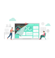 Qa quality assurance check data program bugs vector