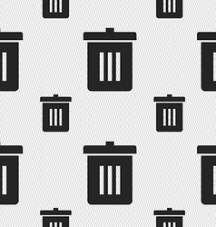 Recycle bin Reuse or reduce icon sign Seamless vector image
