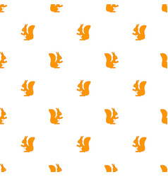 seamless pattern squirrel vector image vector image