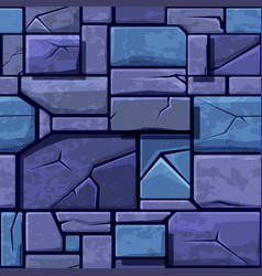 seamless texture of old blue stone background vector image