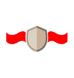 shield and ribbon red sign vector image