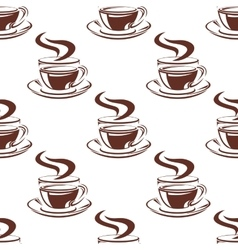 Simple hot coffee cups seamless pattern vector