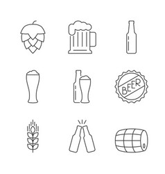 simple icons beer set vector image