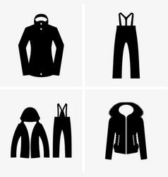 ski suit vector image