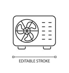 Split air conditioner linear icon vector