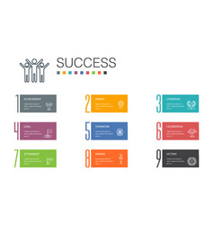 Success infographic 10 option line concept vector