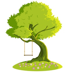 Swing on a tree vector