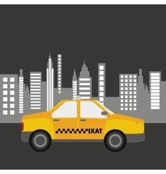 taxi car city bakcground graphic vector image