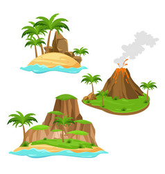 Three different islands on vector