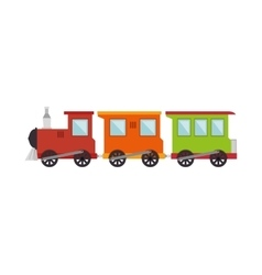 train toy kid isolated icon vector image