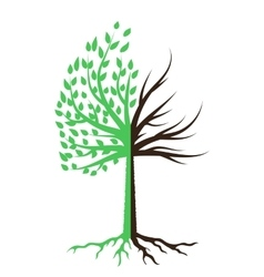 Tree Silhouette Icon vector image