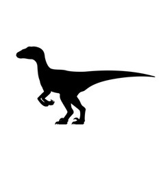Velociraptor silhouette vector