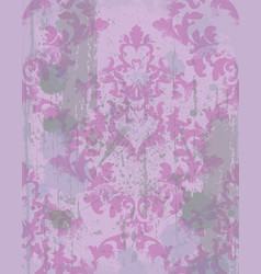 vintage baroque pattern texture ornament vector image