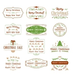 Vintage Decorations Elements Set vector image