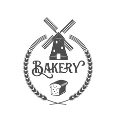 vintage retro bakery logo badge or label vector image