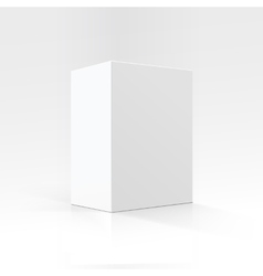 White Rectangular Carton box in Perspective vector image