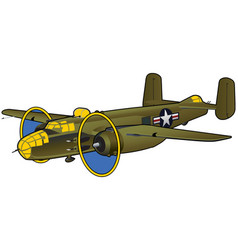 world war ii american bomber vector image