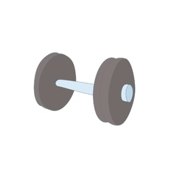 Dumbbell icon cartoon style vector image