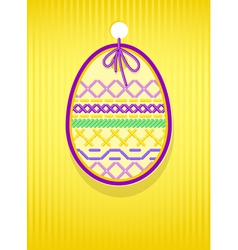 easter card egg vector image