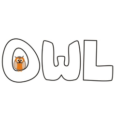 O is for owl - with funny staring owl vector image