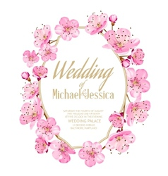 Sakura invitation vector image vector image