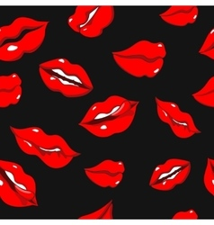 Seamless pattern with red sexy woman lips vector image vector image