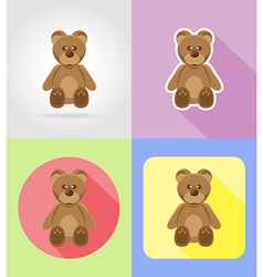 baby flat icons 11 vector image vector image