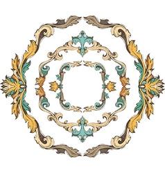 set of circle vintage frames vector image