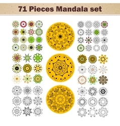 beautiful ornamental rosettes set For vector image