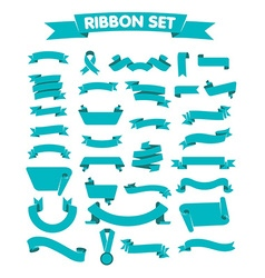 blue ribbon a flat style vector image