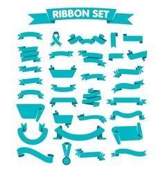 blue ribbon a flat style vector image vector image
