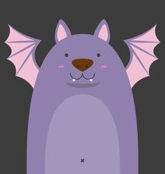 Cute big fat bat vector