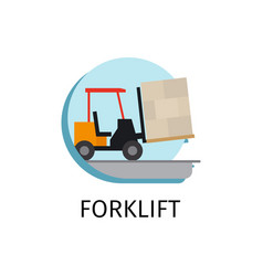 forklift transport in flat style vector image
