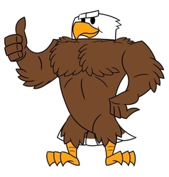 Strong eagle thumb up gesture vector