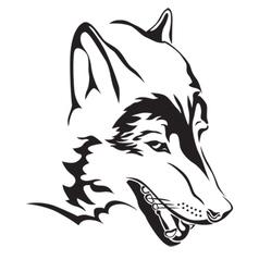 wolfs head vector image vector image