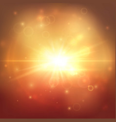golden explostion abstract background vector image