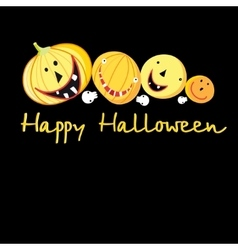 Greeting card with a cheerful pumpkins for vector
