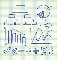 info chart doodle vector image vector image