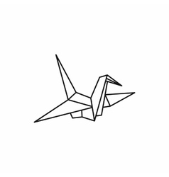 Origami dove icon outline style vector image vector image