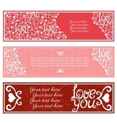 Valentines Day Banners set vector image