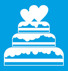 wedding cake icon white vector image