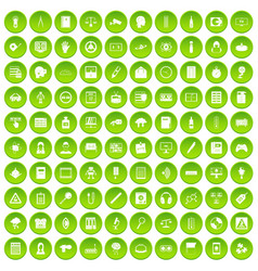 100 information icons set green circle vector