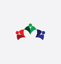 abstract business people logo rgb icon vector image