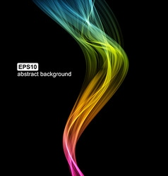 Abstract futuristic colorfull smoke background vector