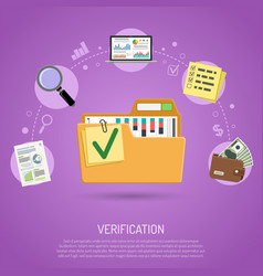 auditing and business accounting concept vector image