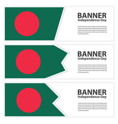 bangladesh flag banners collection independence vector image