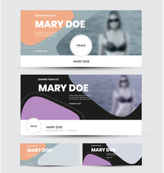 Banner template with abstract design colorful vector
