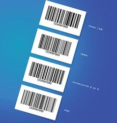 BarcodesTypesOf vector image