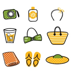 Beautiful Summer icons vector image