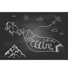 Black and white motivational posters Dream vector